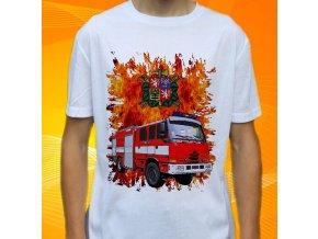 tričko, dětské, pánské, potisk. hasičské auto, tatra