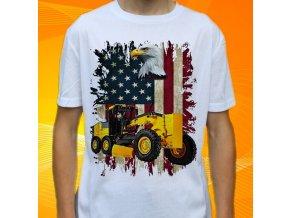 tričko, dětské, pánské, potisk, grejdr, buldozer