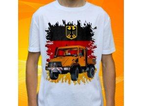 tričko, dětské, pánské, potisk, užitkové auto, unimog
