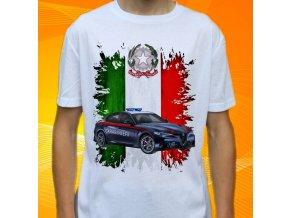 tričko, dětské, pánské, potisk, policie, itálie