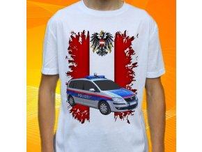 tričko, dětské, pánské, potisk, policie rakousko, volkswagen