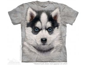 dětské tričko-štěně-husky-mountain-potisk-bavlna