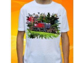 tričko, dětské, pánské, potisk, lokomotiva, ponorka