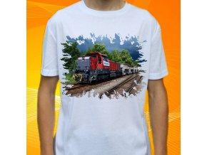tričko, dětské, pánské, potisk, lokomotiva, diesel
