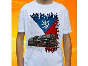 tričko, dětské, pánské, potisk, lokomotiva, parní
