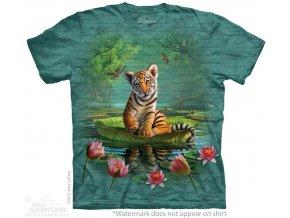 dětské tričko-bavlněné-batikované-potisk-malý tygřík