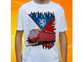 tričko, dětské, pánské, potisk. lokomotiva, elektrická