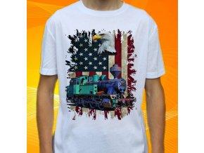 tričko, dětské, pánské, potisk, vlak, mašinka