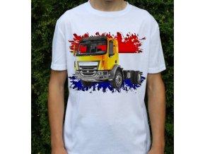 tričko, tahač, kamion, potisk, daf lf