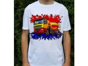 tričko, nákladní auto, domíchávač, potisk, DAF