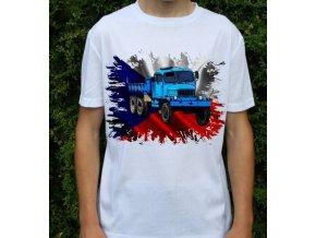 tričko, nákladní auto, potisk, praga v3s