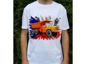 tričko, nákladní auto, potisk, tatra 148