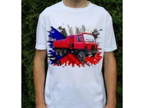 tričko, nákladní auto, potisk, tatra 815