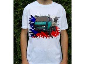 tričko, nákladní auto, potisk, liaz 110