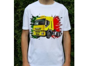 tričko, tahač, kamion, potisk, iveco stralis 440