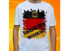 tričko, dětské, pánské, potisk, vlajka, německo