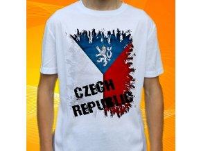 tričko, dětské, pánské, potisk, vlajka, česká republika
