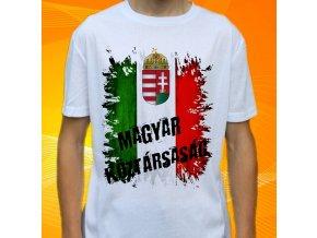 tričko, dětské, pánské, potisk, vlajka, maďarsko