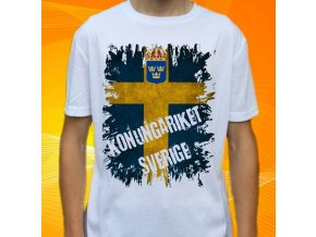 tričko, dětské, pánské, potisk, vlajka, švédsko