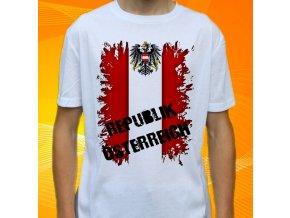 tričko, dětské, pánské, potisk, vlajka, rakousko