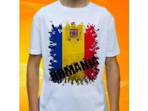 tričko, dětské, pánské, potisk, vlajka, rumunsko