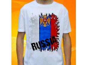 tričko, dětské, pánské, potisk, vlajka, rusko
