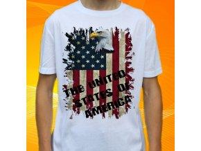 tričko, dětské, pánské, potisk, vlajka, usa, americká