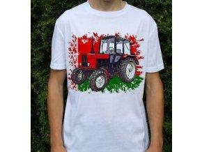 tričko, dětské, pánské, potisk. traktor, belarus