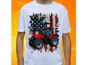 tričko, dětské, pánské, potisk. traktor, case