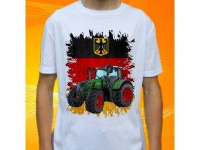 tričko, dětské, pánské, potisk. traktor, fendt
