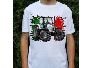 tričko, dětské, pánské, potisk. traktor, Lamborghini
