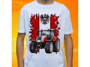 tričko, dětské, pánské, potisk. traktor, steyr