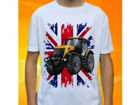 tričko, dětské, pánské, potisk. traktor, jcb