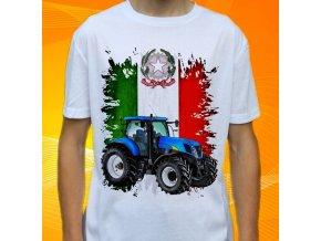 tričko, dětské, pánské, potisk. traktor, new holland