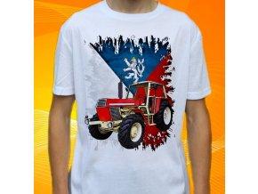 Dětské a pánské tričko s traktorem Zetor Crystal 12045 Čechy