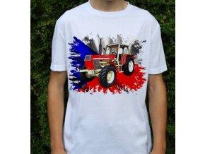tričko, dětské, pánské, potisk. traktor, zetor