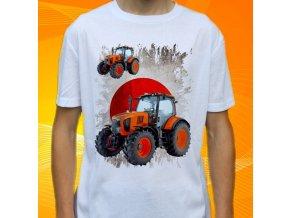 tričko, dětské, pánské, potisk. traktor, kubota