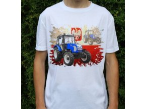 tričko, dětské, pánské, potisk. traktor, farmtrac