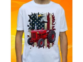 tričko, dětské, pánské, potisk. traktor, mccormick