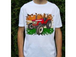 tričko, dětské, pánské, potisk. traktor, mahindra