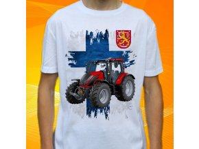 tričko, dětské, pánské, potisk. traktor, valtra