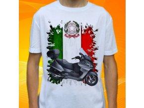 Dětské a pánské tričko s motorkou Aprilia Atlantic 500