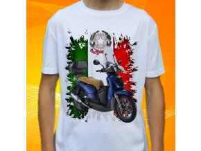 Dětské a pánské tričko s motorkou Aprilia Scarabeo 200