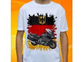 Dětské a pánské tričko s motorkou BMW K1600 GTL černá