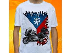 Dětské a pánské tričko s motorkou BMW K1600 GTL černá ČR