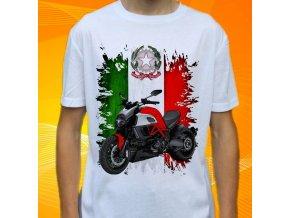 Dětské a pánské tričko s motorkou Ducati 1