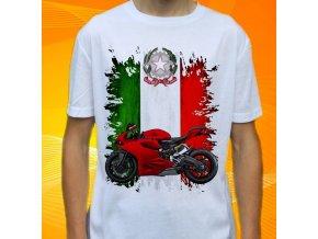 Dětské a pánské tričko s motorkou Ducati 2