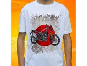 Dětské a pánské tričko s motorkou Honda Africa Twin