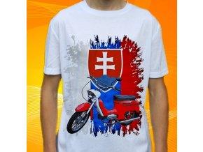 Dětské a pánské tričko s motorkou Jawa 20 Pionýr Slovensko