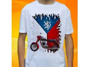 Dětské a pánské tričko s motorkou Jawa 250 353